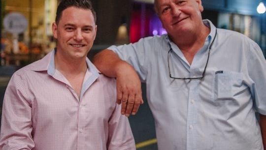 Mr. Pizza Slice owners Nick Napoletano and Tom Cappello.