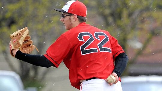 Gavin Lewis will play a pivotal role in the Redmen's success this season on the mound and in the batter's box.