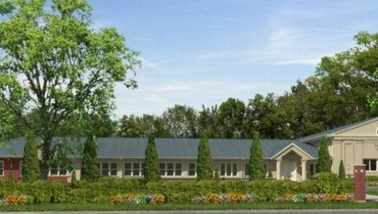 A rendering of a proposed Talmudic academy on Logan Road in Ocean Township.
