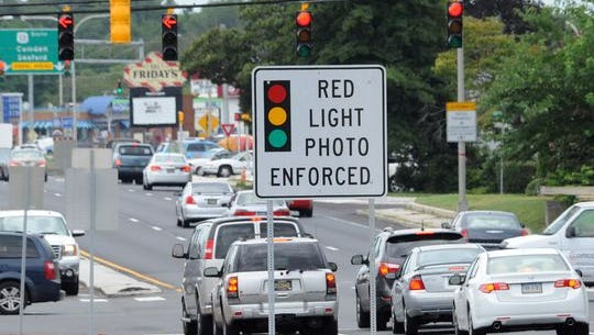Red-light cameras are used at are U.S. 13 and Division Street in Dover