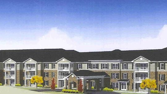 A rendering of the proposed senior housing units at South Ankeny Boulevard.