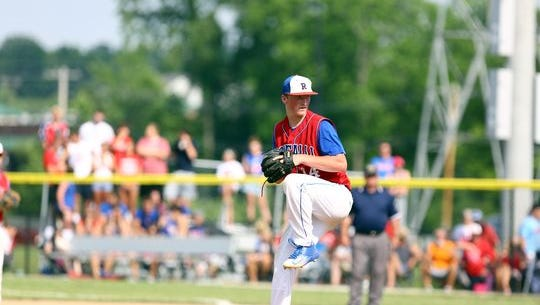 Roncalli's Michael McAvene pitches in the semistate