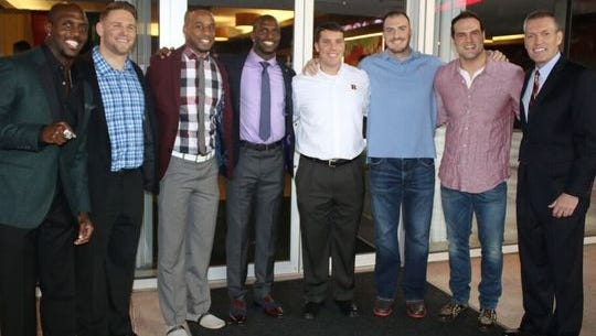 The Rutgers football alumni network came out to support the McCourtys and Tackle Sickle Cell for a Casino Night in February.