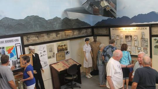The Korean War exhibit is filled with donated items from Alamogordo residents who served during the war. Celebrating the military aspect of the community, the museum hung a model of a Stealth aircraft.