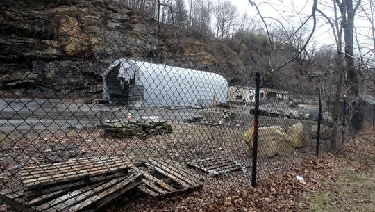 The now defunct Lake Street granite quarry in West Harrison.