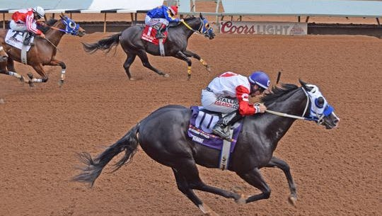 A Revenant, the odds-on favorite at the trials Friday afternoon in the fifth race,  was the winner of the $1 million Rainbow Futurity in July. The colt was second in the Ruidoso Futurity in June.