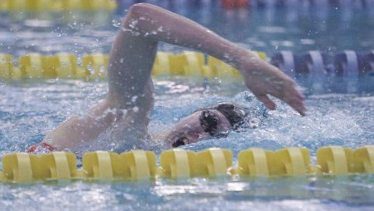 Brighton's Taylor Seaman helped her team beat Dexter for the first time in 22 years with three first-place finishes on Tuesday.