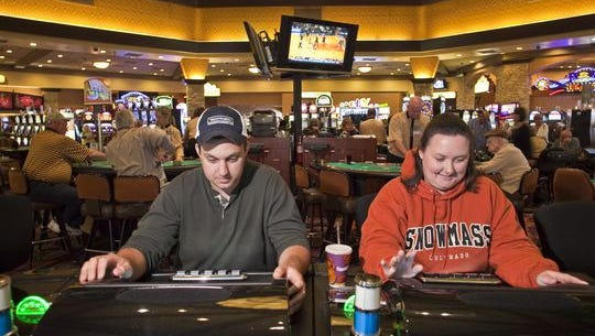 Casino-goers at Harrah's Ak-Chin Hotel & Casino
