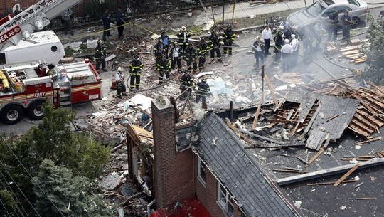 Destroyed Bronx house where FDNY Chief Michael Fahy died following an explosion