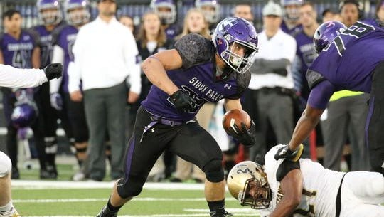USF running back led the NSIC with over 1,500 rushing yards this season.