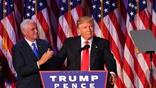 Perhaps you have been critical about Donald Trump's penchant for name-calling. Ronald Dufresne of The Philadelphia Inquirer challenges those of us to channel that anger by listening to those who disagree with us and recognizing they might have good reason for doing so. This photo of Trump was taken at his speech to supporters Nov. 8, 2016.