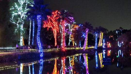 Through 1/8: ZooLights | Celebrating 25 years, the Phoenix Zoo will light up with millions of holiday lights, and you'll also see sizable Lego structures of animals, plants and more. | Details: 5:30-10:30 p.m. nightly through Sunday, Jan. 15, 2017. 455 N. Galvin Parkway. $12.95-19.95 general admission, $10.95-17.95 for members, depending on the night; free for ages 2 or younger. 602-286-3800, phoenixzoo.org.