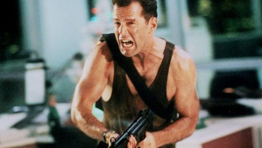 Just like Santa, Bruce Willis also delivers on Christmas Eve in the action flick 'Die Hard.'