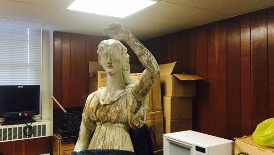 Lady of Justice statue, which used to stand at the entrance to the Morris County courthouse, will be restored in 2017.
