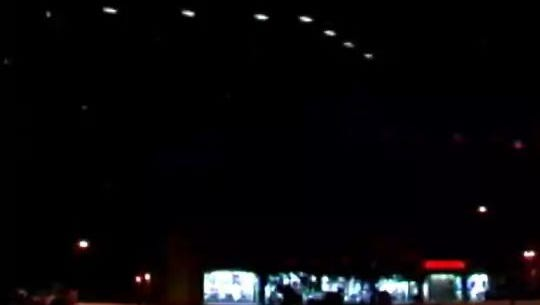 An image of the Phoenix Lights captured by Dr. Lynne Kitei.