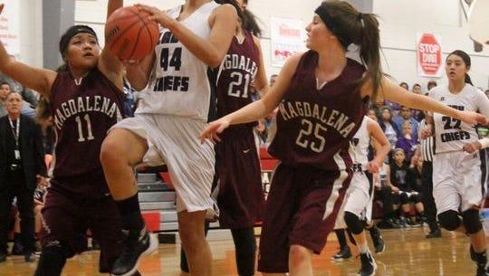 Mescalero Apache High School senior Lauryn Yuzos.