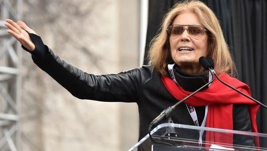 Gloria Steinem speaks during the Women's March on Washington