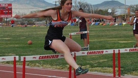 It's still early in the season, but Capitan High School's Dakota Hazen, seen here at the 2016 Grizzly Relays, qualified for the state meet in pole vault and 100 meter hurdles.