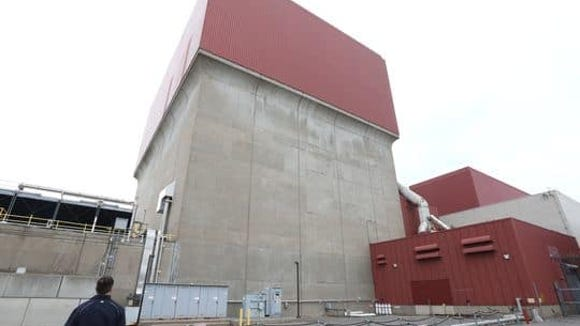 Outside the James A. FitzPatrick nuclear power plant in Oswego County, one of three upstate plants that will benefit from a multi-billion dollar bailout plan.