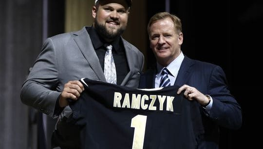 SPASH graduate and University of Wisconsin All-American Ryan Ramczyk was selected by the New Orleans Saints with the final pick of the first round of the 2017 NFL Draft.