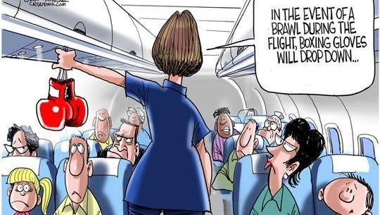 In-flight brawling