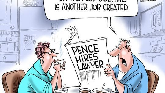Pence and his lawer