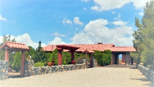 "The ranch-style home in Cliff, New Mexico, where a painting was found that would turn out to be ""Woman-Ochre"" by Willem de Kooning."