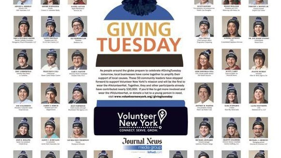 This two-page spread highlighted 50 community leaders who supported Volunteer New York! by making a donation and receiving a 2015 Volunteer Hat.