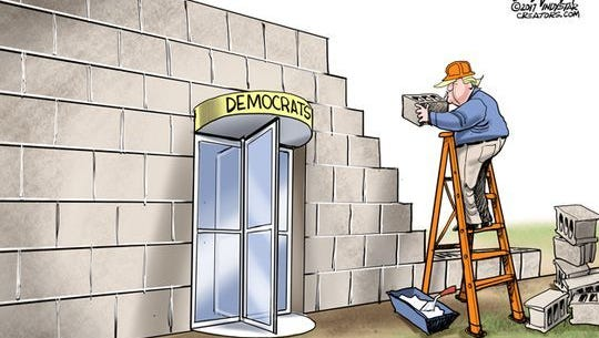 President Trump's wall compromise.