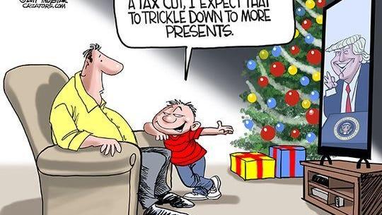 Tax cut trickle down.