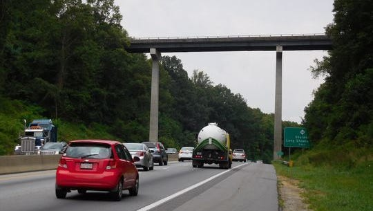 Part of I-26 in Henderson County were recently resurfaced, but those in Buncombe were not. Buncombe County's portion of I-26 has a major widening project looming, and the resurfacing will be done then.