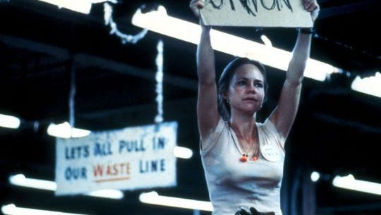 """Sally Field in the 1979 film, """"Norma Rae."""""""