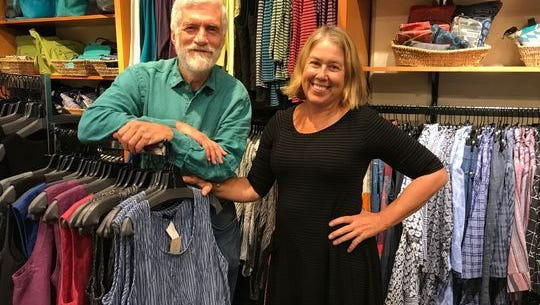 Mike Roach and Kim Osgood, owners of Paloma Clothing in Portland.