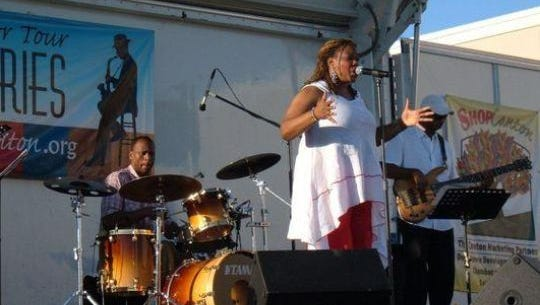 Penny Wells performs during a past summer jazz concert series.
