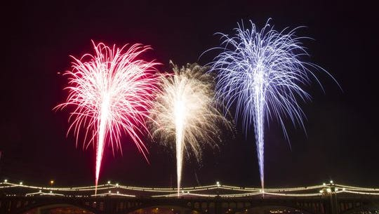 Tempe Town Lake fireworks show
