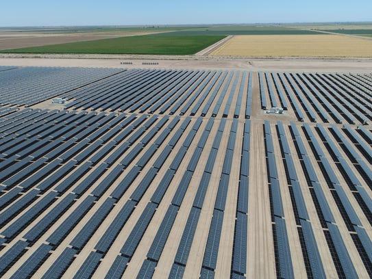 The 50-megawatt Sonora solar farm in Calipatria, California,
