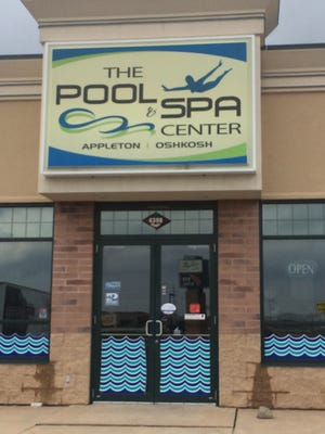 The Pool & Spa Center in Grand Chute was dark Wednesday during normal business hours.