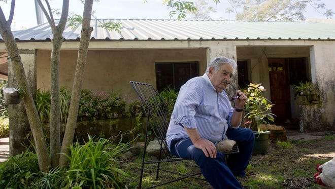 Jose Mujica, President of Uruguay discusses the social changes in his country at his residence outside of Montevideo, Uruguay.