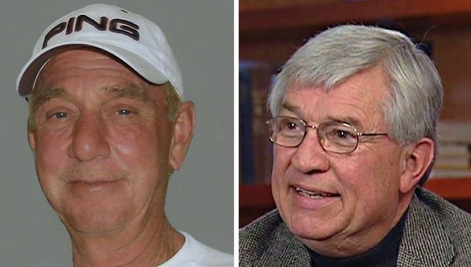 Russ Sanches, left, and Bob Bouck will be honored with the Dick Letts Award on Thursday at the Greater Lansing Sports Hall of Fame.