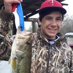 Will Perkins and partner Doug Perkins (not pictured) took first place in Saturday's CGM Youth Trail tournament at Barnett Reservoir on Saturday.