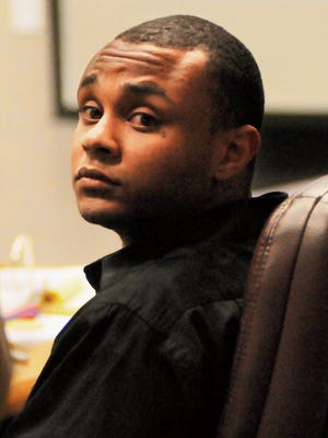 Davalous Brown, 22, appears in 3rd Judicial District Court last month.