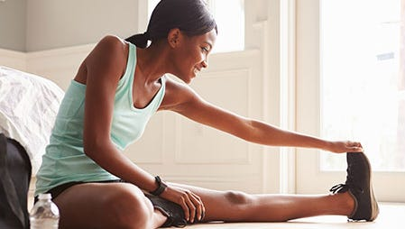 A dynamic warm-up is the best way to get stiff muscles and joints ready for a workout