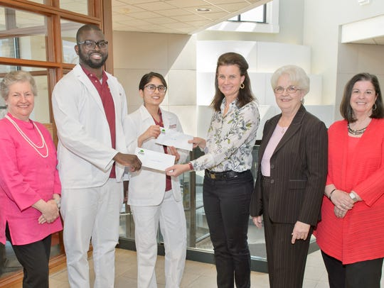 Leonard Hayes and Sonam Patel, nursing students at