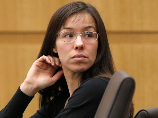 Jodi Arias appears for her trial in Maricopa County Superior court in Phoenix in 2013.