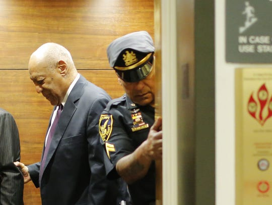 Bill Cosby in the Montgomery County Courthouse on June
