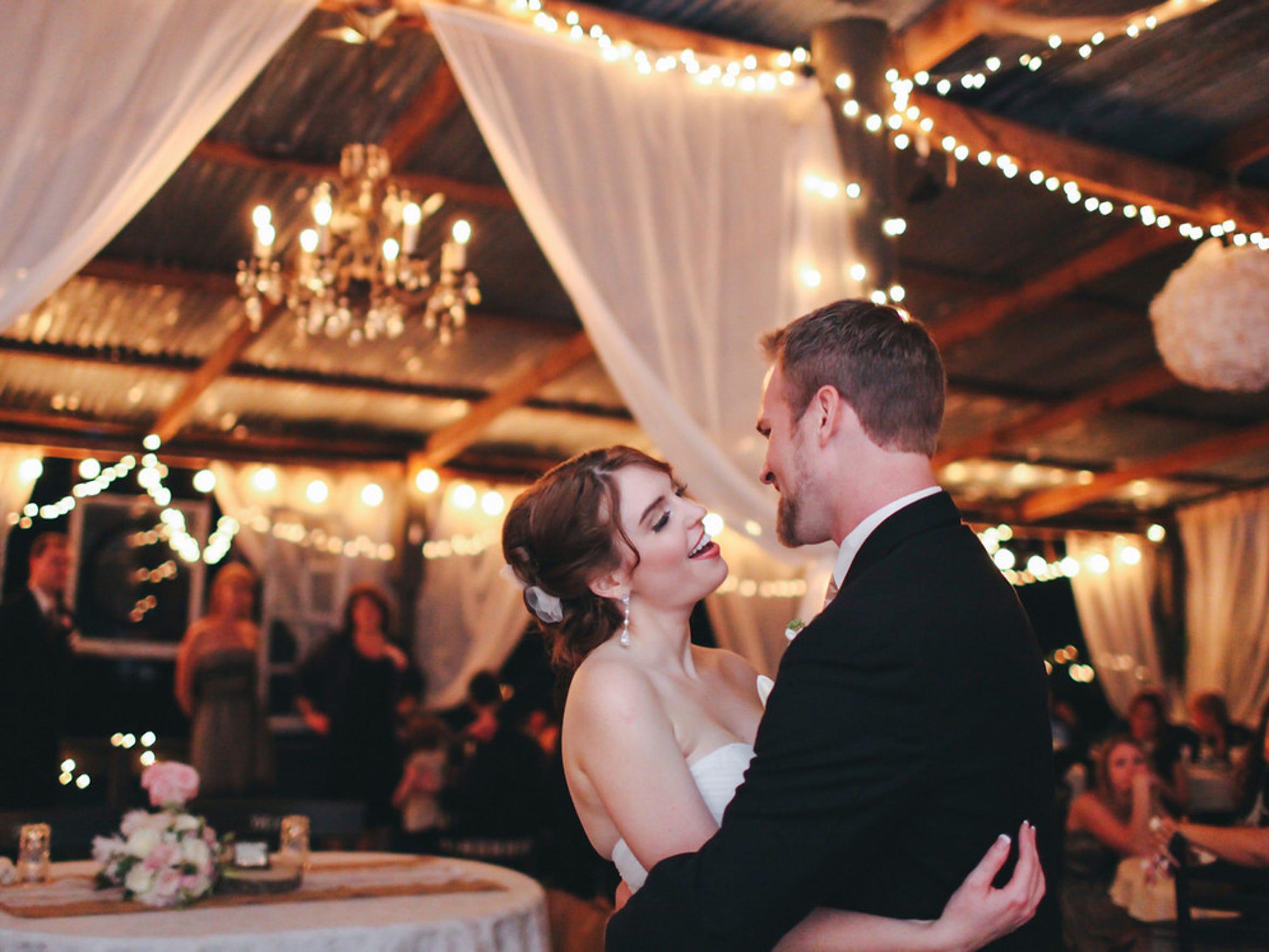 Michael and Sarah Chardavoyne on their wedding day.