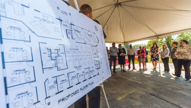 The Wayne County Area Chamber of Commerce celebrated the groundbreaking of a new administrative building for the Eye Center of Richmond on Thursday, Sept. 21, 2017.