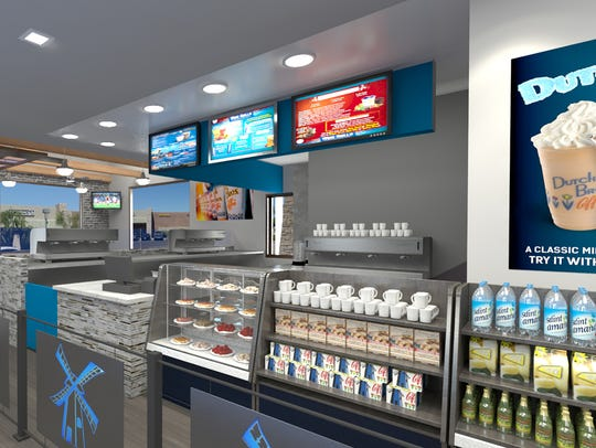 Rendering of the inside ordering counter at Dutch Bros.
