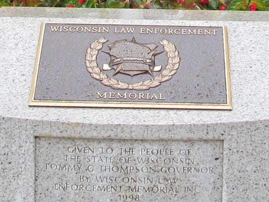 The Wisconsin Law Enforcement Memorial sits just steps