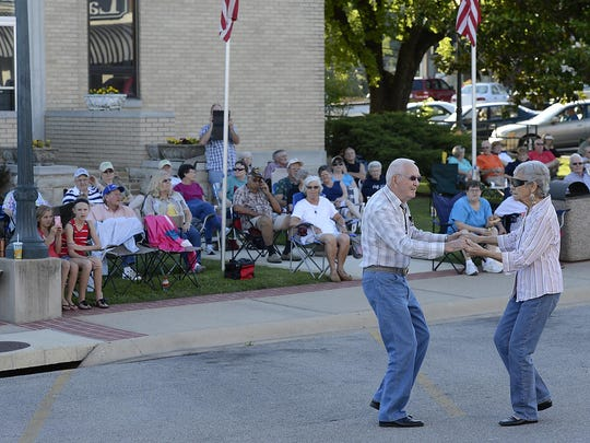 Hank and Wanda Robison cut a rug during Friday Night on the Square in Mountain Home last year.